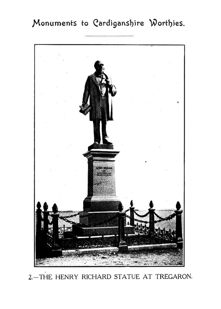 Monuments to Cardiganshire Worthies - The Henry Richards Statue at Tregaron