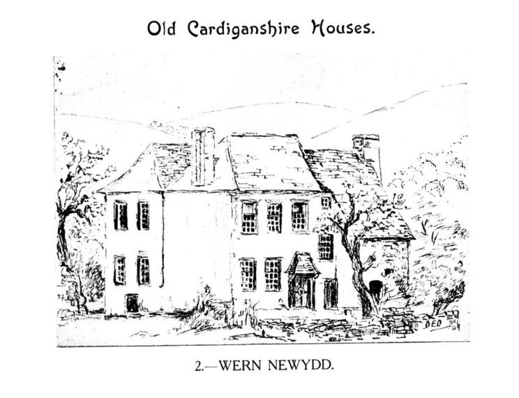 Old Cardiganshire Houses - Wern Newydd, Llanarth, Ceredigion