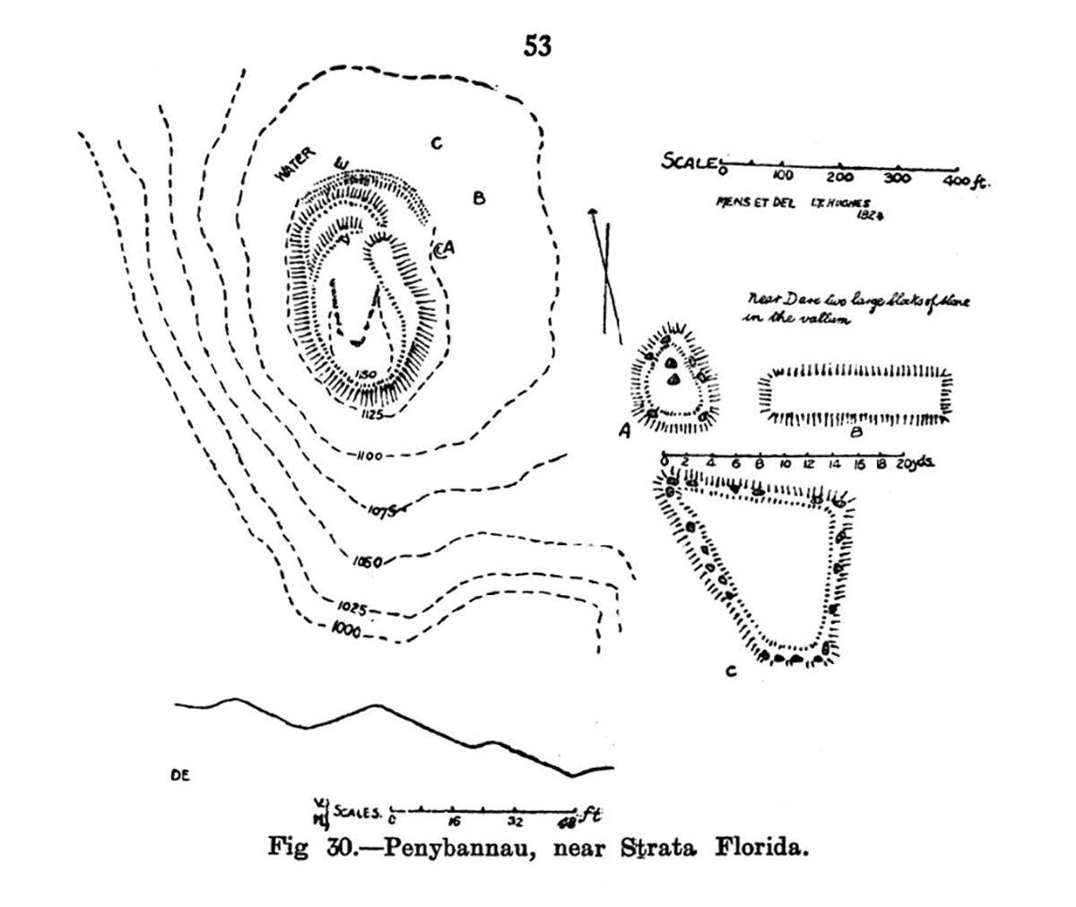 Site plan Penybannau near Strata Florida