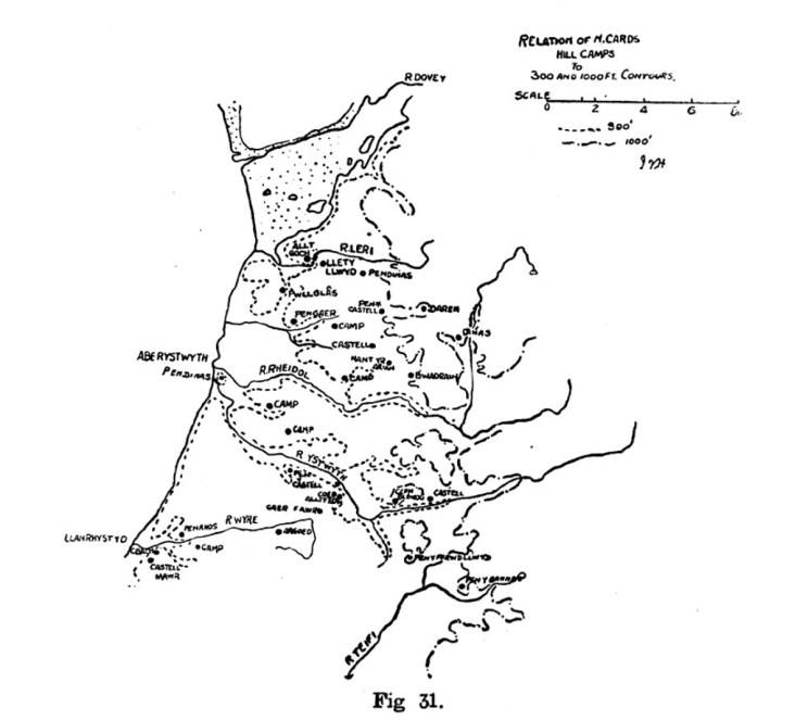 Relation of North Cardiganshire Hill Camps