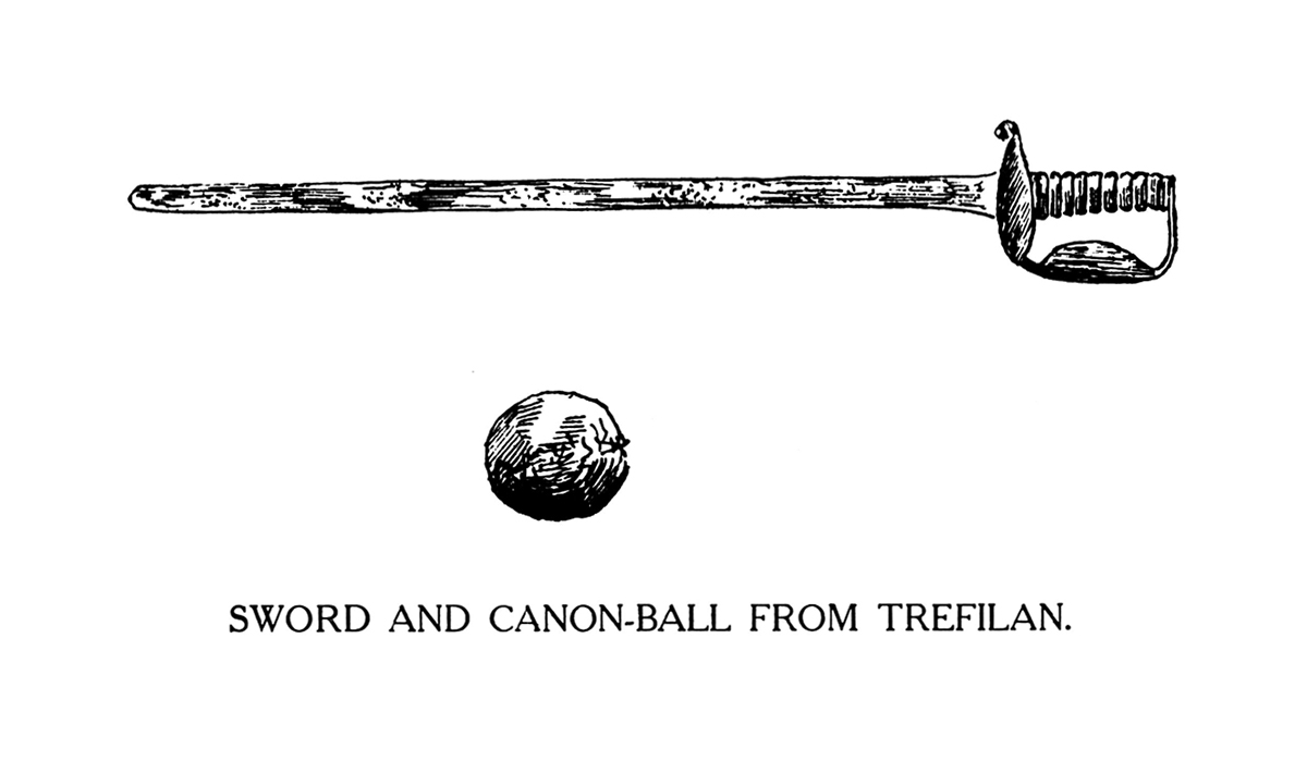 Sword and Canon-Ball from Trefilan