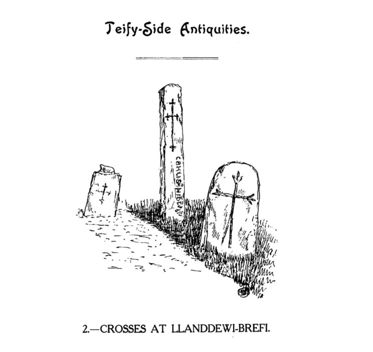 Teify-Side Antiquities - Crosses at Llanddewi-Brefi