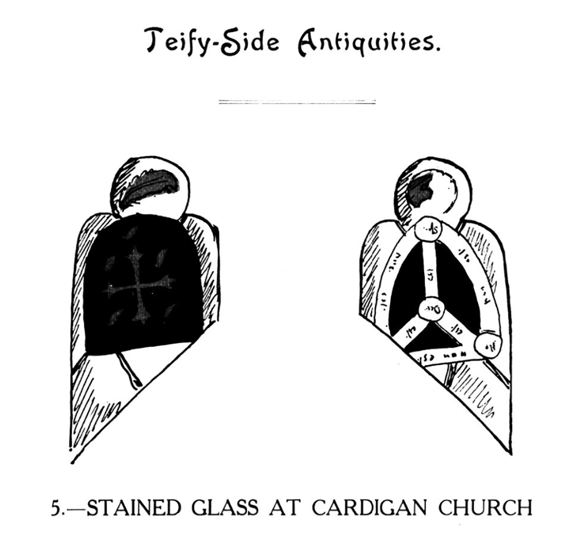 Teify-Side Antiquities - Stained Glass at Cardigan Church