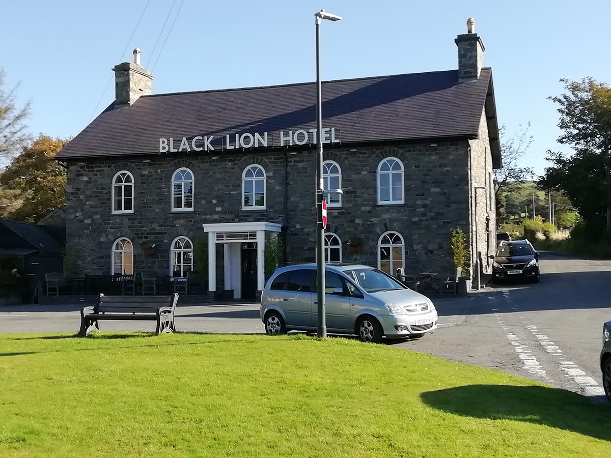 History of the Black Lion Hotel, Talybont, in the county old county of Cardiganshire