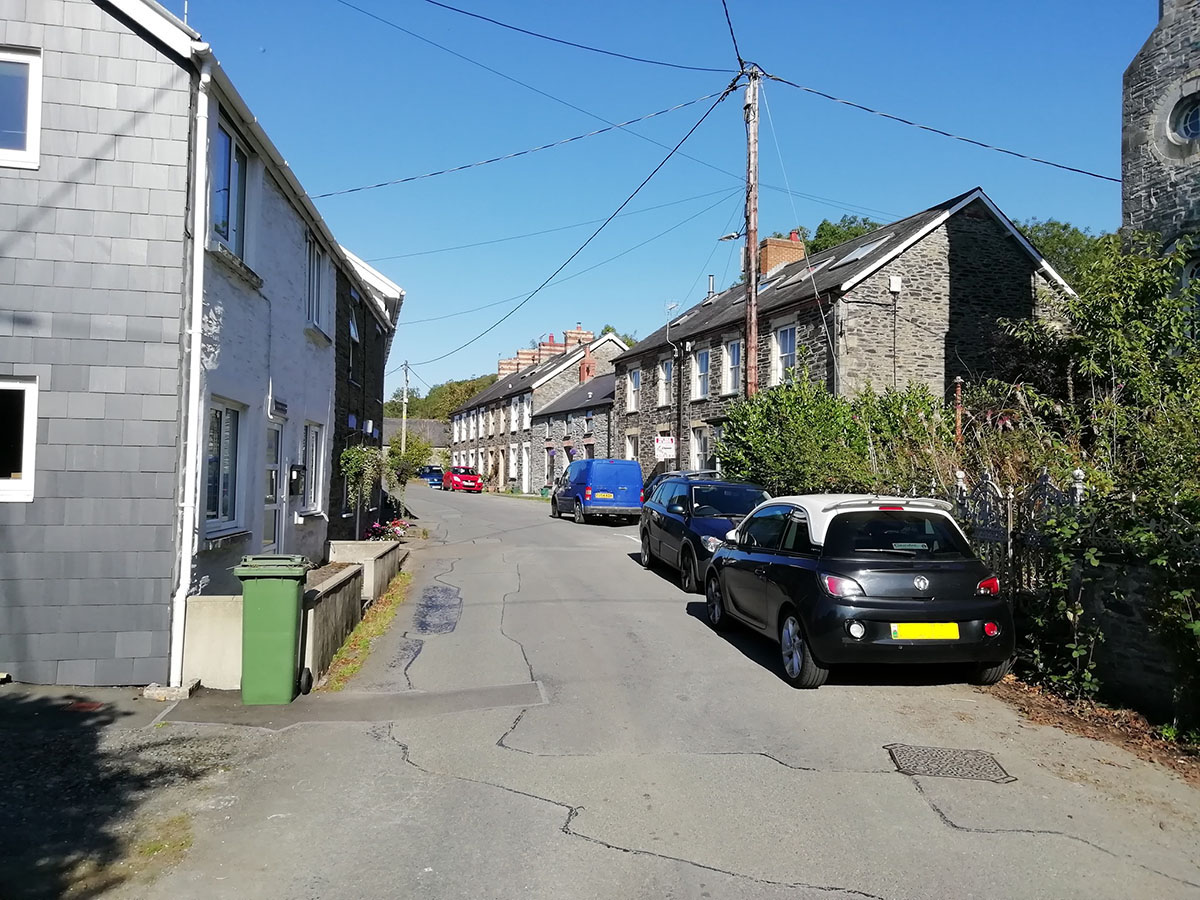 North view of Tre'r Ddôl street North Road – Discover the archaeology, antiquities and history of Ceredigion
