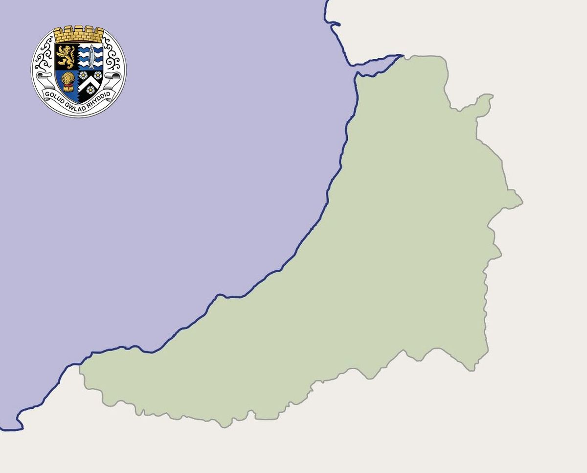 Cardiganshire (Ceredigion) Map by Ceredigion Historical Society