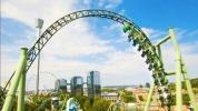 Heyecan dorukta: Drone, Roller Coaster ile yarıştı!