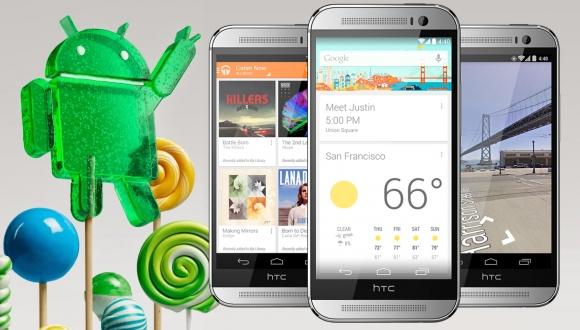 HTC One M8 için Lollipop Türkiye'de