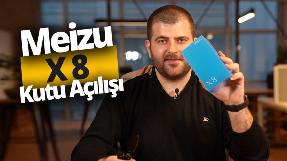 Meizu X8 kutusundan çıkıyor! (Video)
