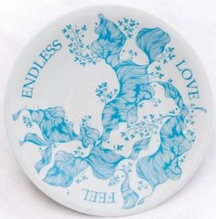 Kolekcija Feel endless love, blue plitki