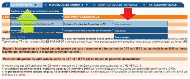 CONSULTER LE COMPTE FISCAL CFE