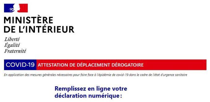 Attestation De Deplacement Couvre Feu Covid 19 Liasse Fiscale 2021