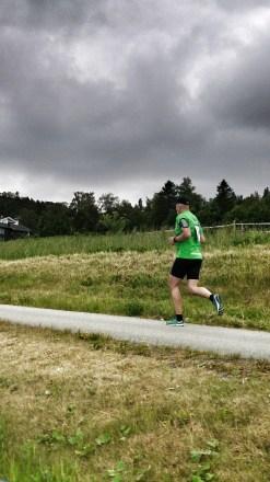 Arnt Erik ute på sin etappe. dag en av St. Olavsloppet 2014.
