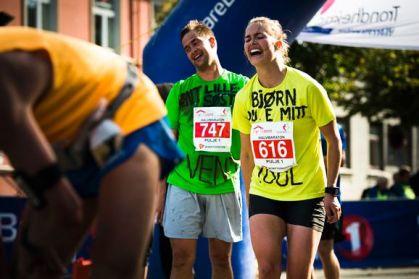 Trude Carlsen under Trondheim halvmaraton. Foto: Ole Martin Wold