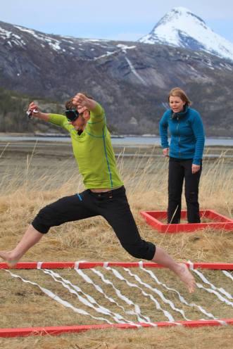 Kent Roger Tangvik under 71 grader nord. Foto: TV Norge