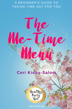 Me-Time Menu eBook self-care Healthy Party Girl