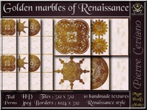 Golden marbles of Renaissance SL Add