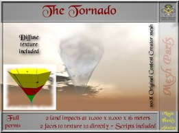 Tornado - 2 LI - FULL PERMS Mesh & scripts