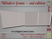 Window frame 2nd ed. - 0.5 LI - FULL PERMS Mesh