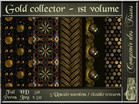 Gold collector - 1st volume - 5 FULL PERMS Textures