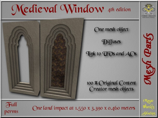 Medieval window IV - 1 LI - 1 FULL PERMS Mesh