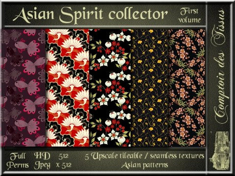 Asian Spirit collector I - 5 FULL PERMS Textures