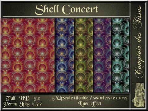 Shell Concert - 5 FULL PERMS Textures