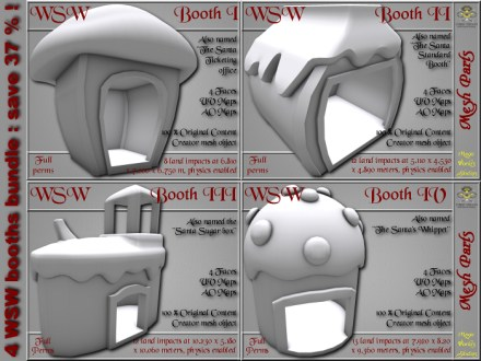 WSW Booths bundle - 4 FULL PERMS Meshes