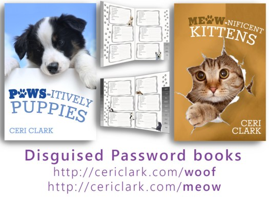 Meow-nificent Kittens iand Paws-itively Puppies are secret password log books