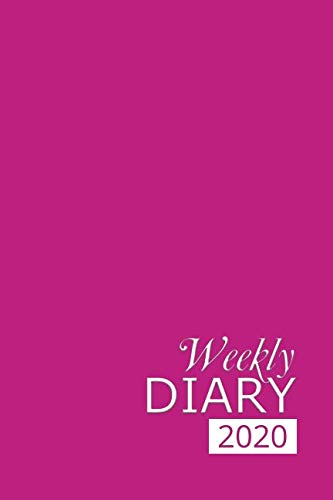 Weekly Diary 2020: Pink Weekly Diary for 2020, Week to View (January to December) Planner (6×9 inch) (Clark Diaries & Journals)