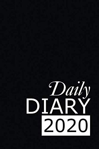 Daily Diary 2020: Black 365 Day Tabbed Journal January – December (Clark Diaries & Journals)