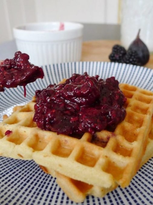 Blackberry & Fig Jam with Cashew Grain-Free Waffles