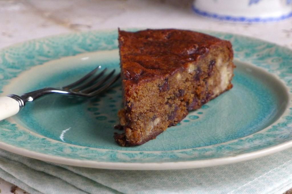 Banana Chocolate Chip Cake. Gluten Free Vegan