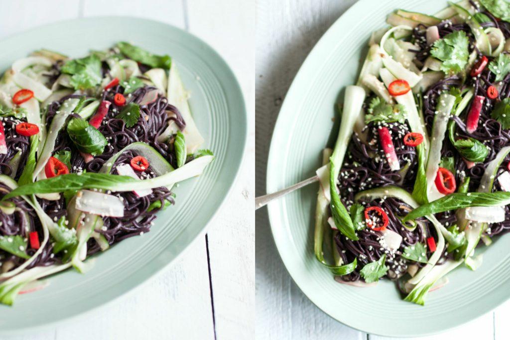 Japanese Black Noodle Salad   Natural Kitchen Adventures