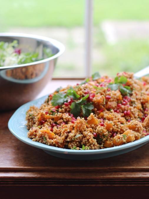 Squash & Buckwheat Rose Harissa Salad