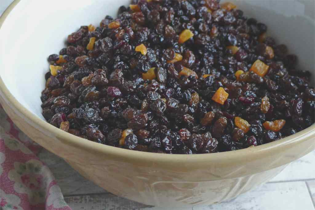 Christmas Cake with Amaretto Soaked Fruit {gluten free}