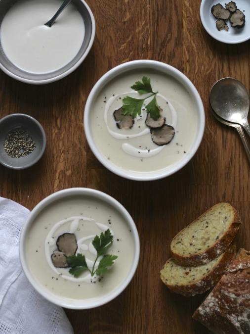 Cashew Cream Cauliflower Soup