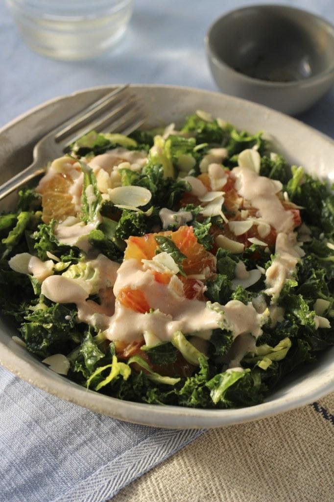 Curly Kale Sprout Chicken Blood Orange | Natural Kitchen Adventures