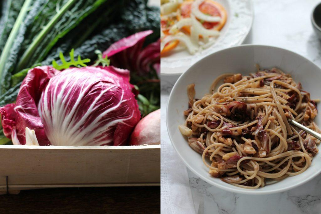 Radicchio & Walnut Spaghetti | Gluten Free | Vegan | Natural Kitchen Adventures