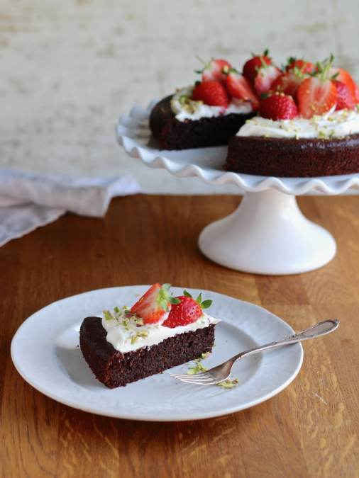 Chocolate Almond Olive Oil Cake