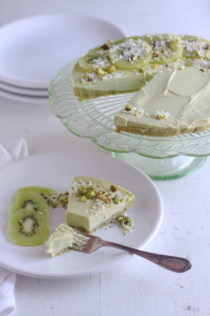Lime Avocado Cheesecake