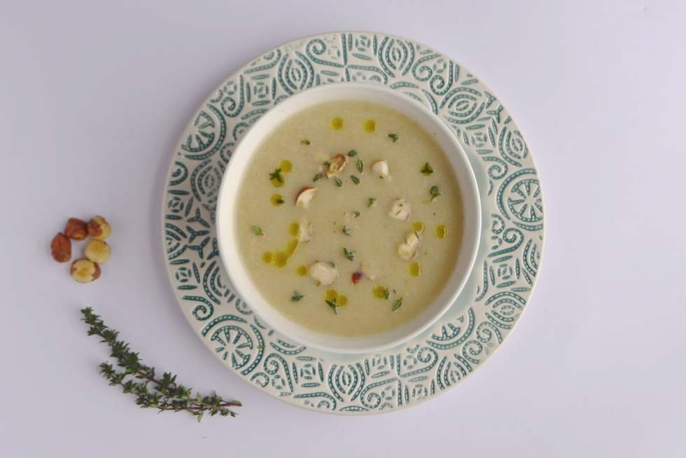 Celeriac & Apple Soup. A naturally dairy free and vegan soup by Natural Kitchen Adventures
