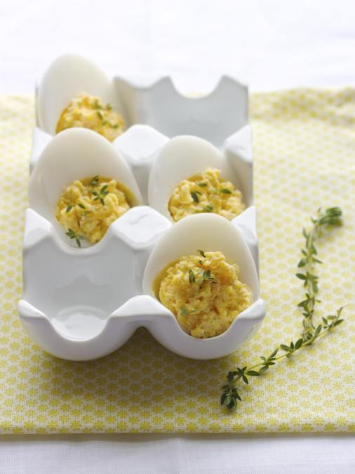 Devilled Eggs with Truffle Oil and Smoked Salt