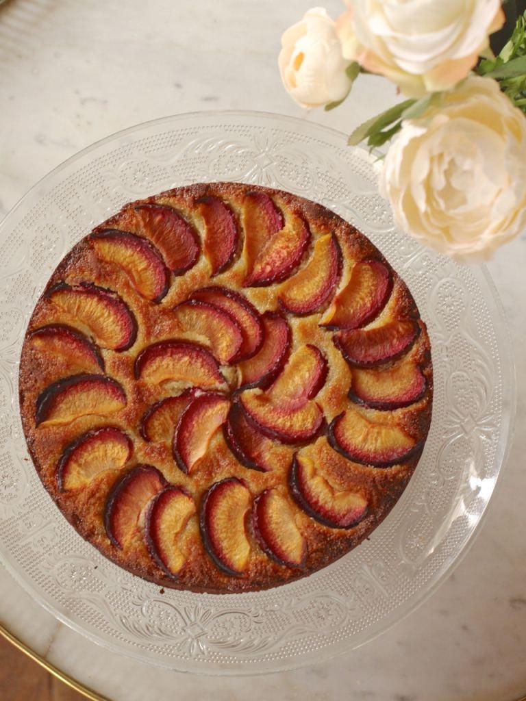 Plum Almond Honey Torte   Gluten Free Cake   Natural Kitchen Adventures