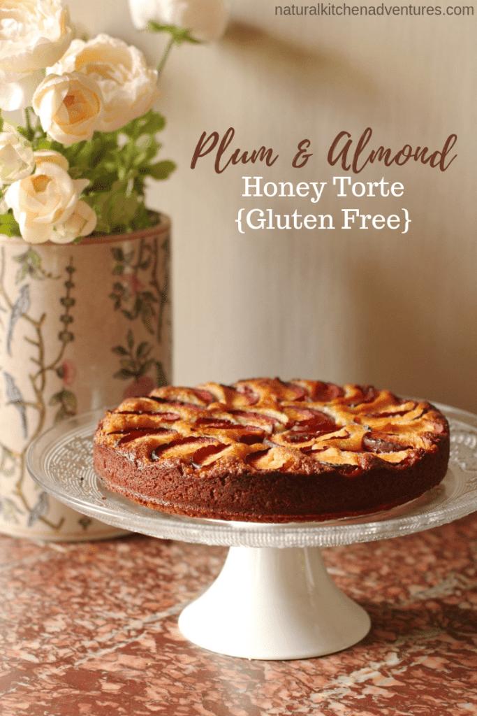 Plum Almond Honey Torte | Natural Kitchen Adventures