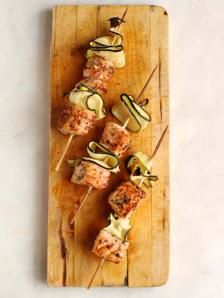 Salmon and Courgette Skewers | Natural Kitchen Adventures