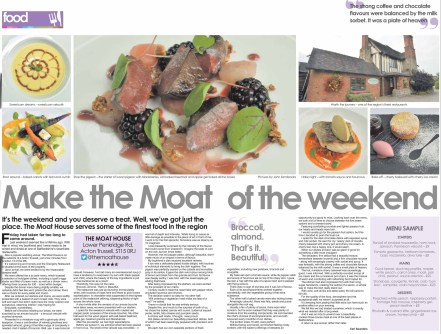 Food review: The Moat House, Acton Trussell
