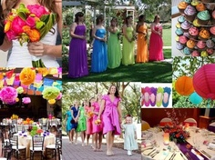 Multicolor wedding