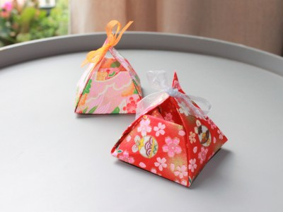 Ballotin boîte origami pour dragées