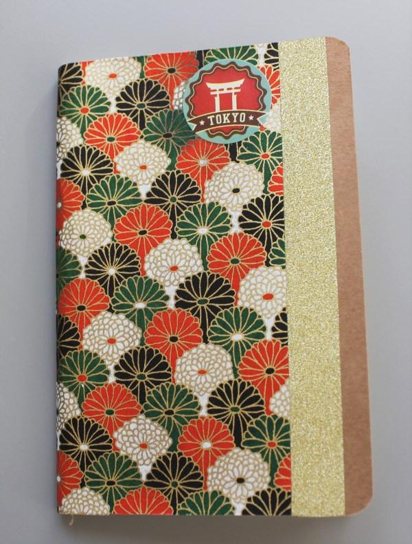 Carnet de notes ou de voyage fleurs rosaces